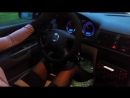 ANIA Fast Driving _in City _Wet Road _Black Seams Pantyhose _High Heels