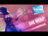 She Wolf Falling To Pieces in the style of David Guetta feat. Sia Karaoke with Lyrics