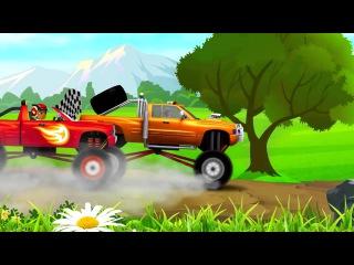 Мультик про машинки ✔ Гонка: Вспыш и Монстр Трак! Мультфильм для детей