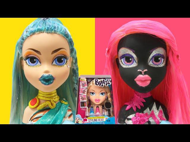 Play Doh Monster High Catty Noir Nefera De Nile Bratz Styling Head CLOE