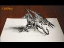 Как нарисовать ДРАКОНА 3D простым карандашом /DRAGON Smaug 3D / 画像をドラゴンの3d