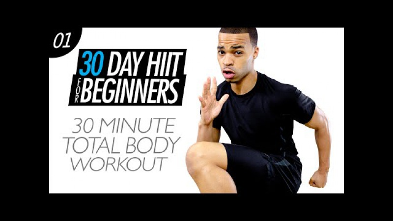 30 Min. Total Body Cardio HIIT Home Workout for Beginners - 30 Day Challenge | Beginner HIIT 01