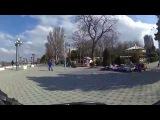 Анапа  видео 2015 Набережная в марте