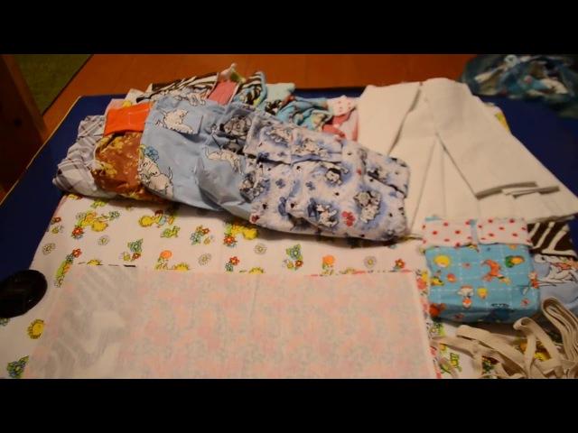 Как сшить многоразовый подгузник для новорожденных своими руками