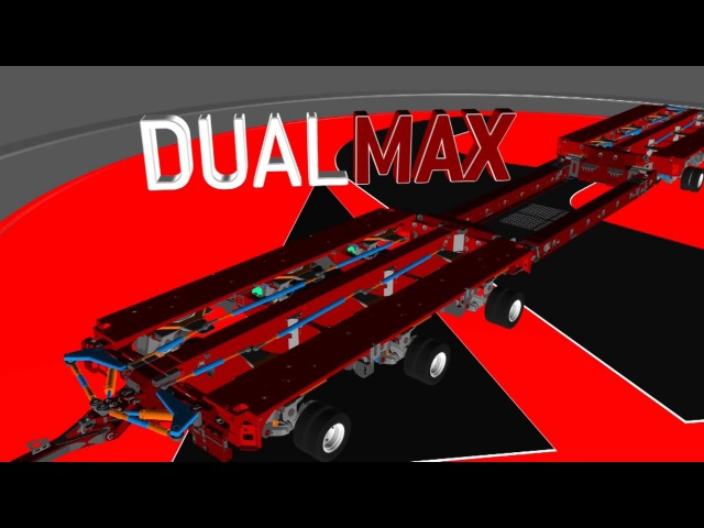 FAYMONVILLE DualMAX - the modular platform trailer with widenable axles