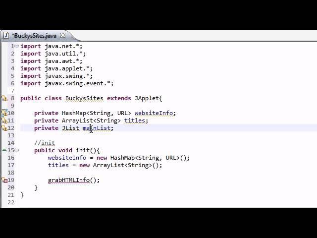 Intermediate Java Tutorial - 30 - init for Networking Applet