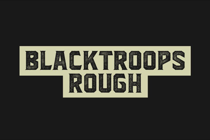 Download blacktroops rough-inline font (typeface)