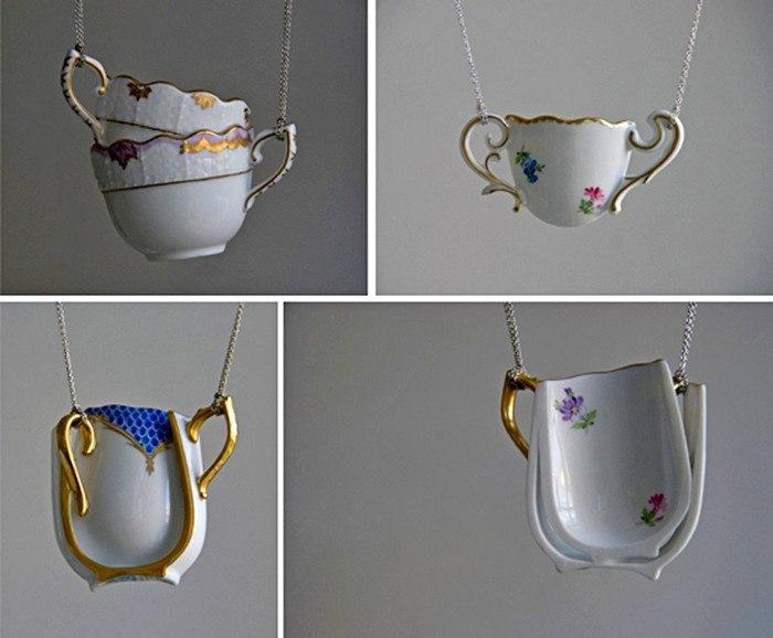 Table-wear, из керамической посуды в оригинальные украшения