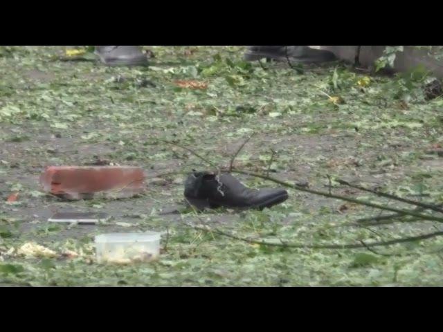 Вибух у центрі Донецька чоловіка розірвало на шматки ВІДЕОРЕПОРТАЖ