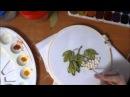 Вышивка лентами ягоды рябины how to make a ribbon embroidery berries 刺绣的罗恩浆果
