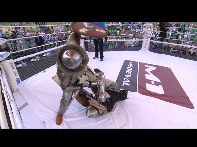 The hardest KO at M-1 Medieval/Тяжелейший нокаут в рыцарском поединке