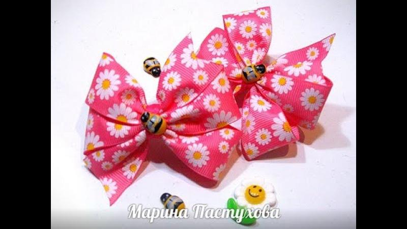 DIY Самый быстрый бантик канзаши из репсовой ленты the fastest bow kanzashi ribbon lacings from