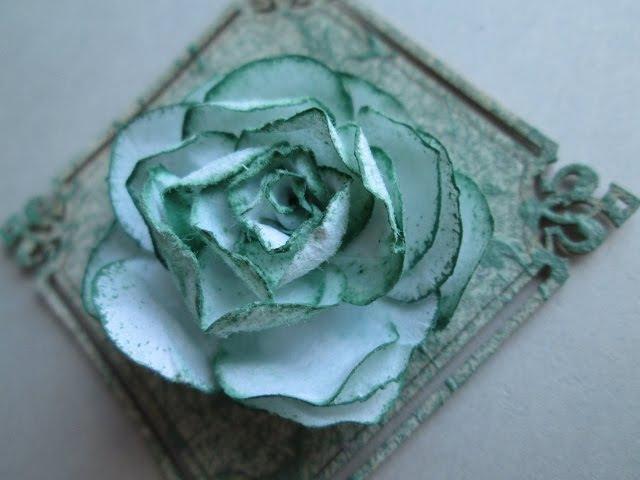 Скрапбукинг Ажурная роза Цветы из бумаги своими руками openwork rose paper