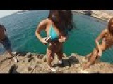 Cliff Jumping best moments around the world and hot nude girls