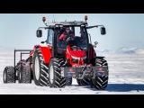 Смотреть трактор для детей. Мультик про трактор на снегу. Строительная техника для малышей