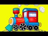Lehrreicher Zeichentrickfilm - die Bauernhof mit Tieren - der kluge Zug - Spass für kleine Kinder
