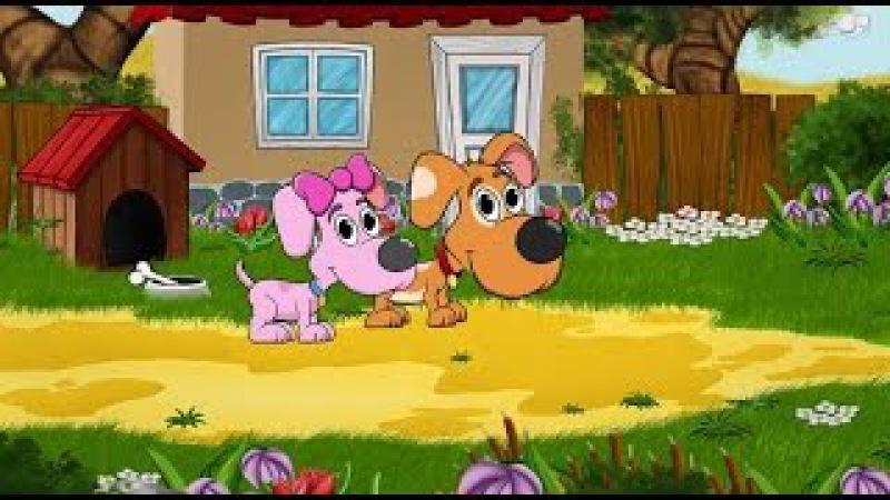 Pieski Małe Dwa chciały przejść przez rzeczkę Piosenki dla dzieci