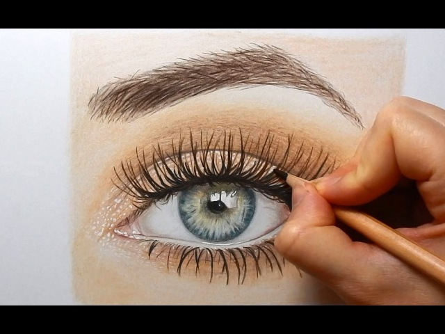 Drawing, Coloring an eye with colored pencils | Emmy Kalia