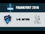Vega vs Spirit #1 (bo3) | ESL One Frankfurt 2016, 11.04.16