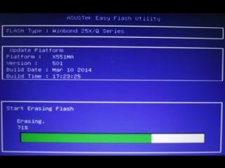 Прошиваем BIOS ноутбука Asus X551MA. Установка Windows 7