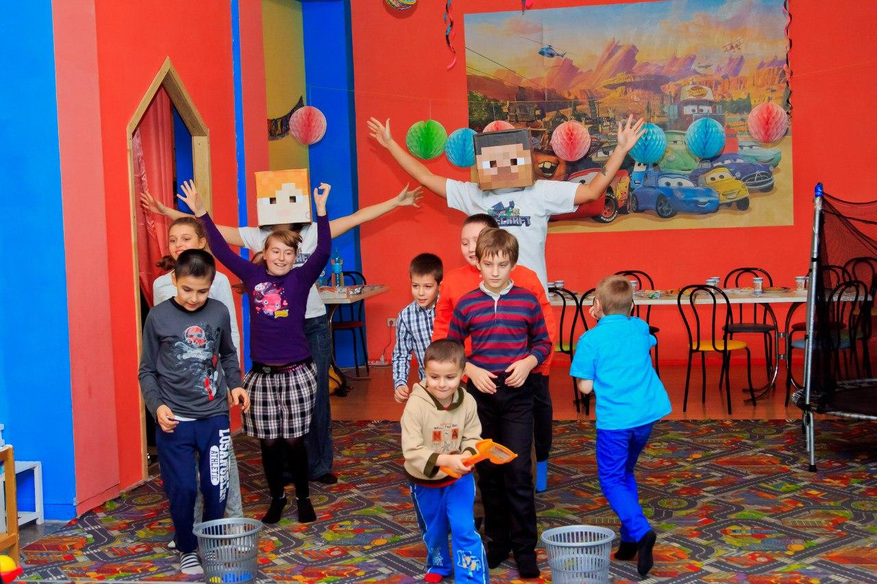 Детский День рождения Minecraft в Запорожье