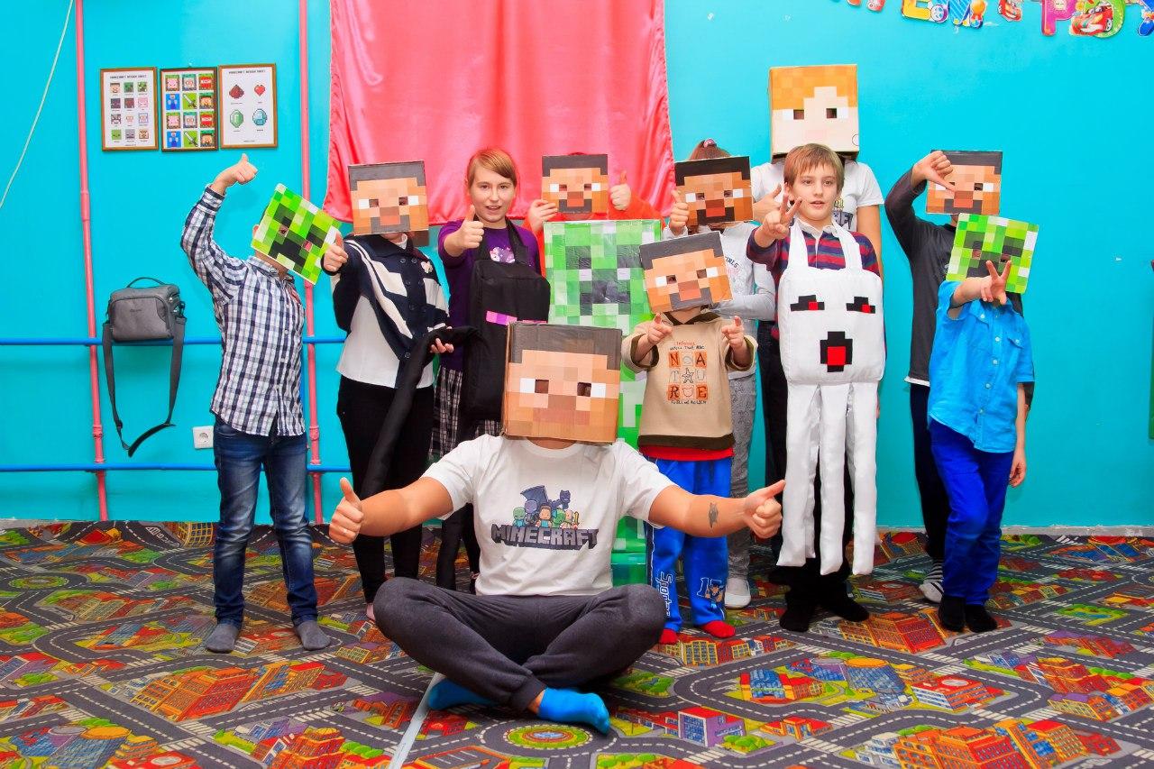 Детский День рождения в стиле Minecraft Запорожье