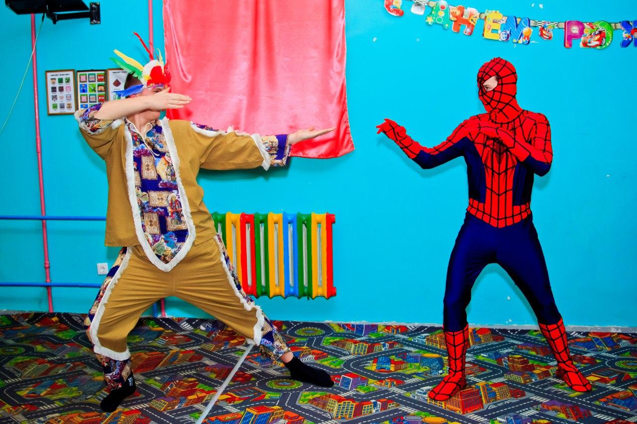 детский день рождения в Запорожье человек паук на детский праздник