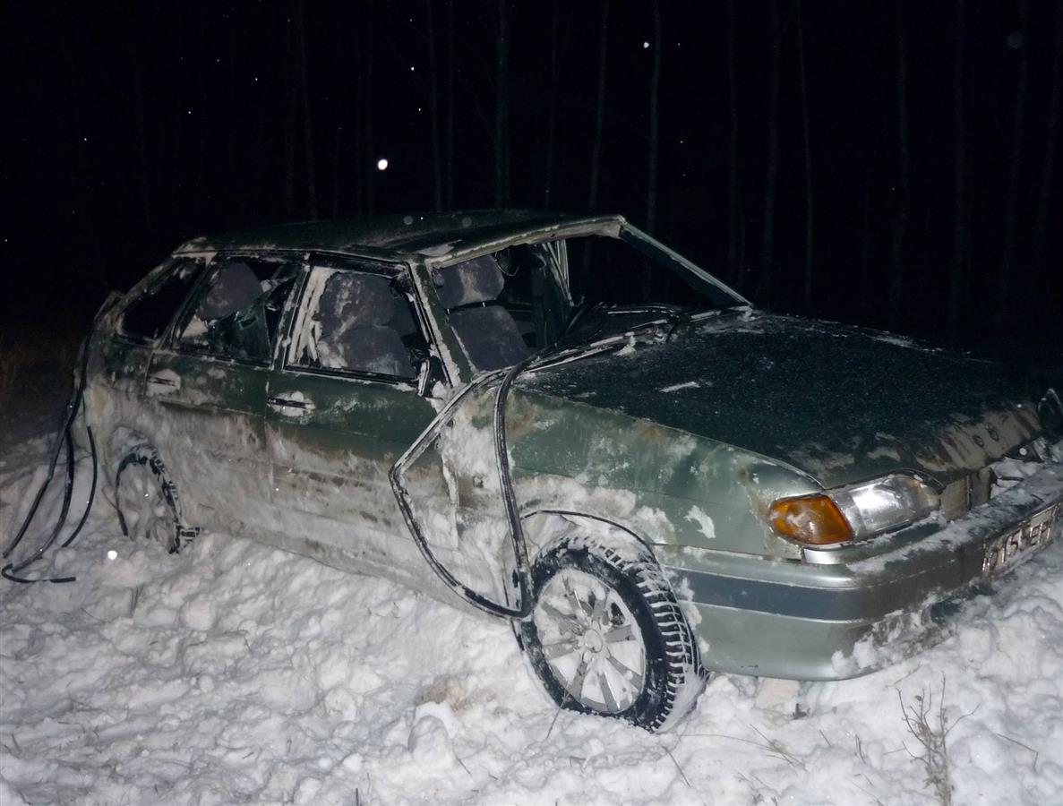Под Таганрогом на трассе перевернулся «ВАЗ-2114»