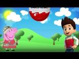Свинка Пеппа и Щенячий патруль Открываем яйца киндер сюрприз Unboxing Kinder Surprise Марусины сказк