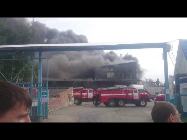 Водитель барнаульской компании «Консиб» погиб во время пожара на складе