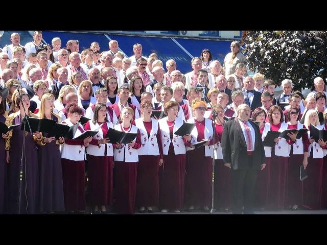 В Івано-Франківську 700 хористів заспівали революційний гімн Франка