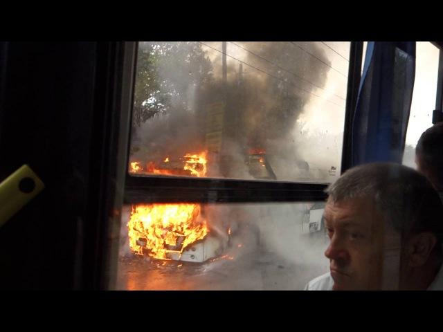 Крымнаш: на вулицях Сімферополя згорів новий тролейбус московської збірки