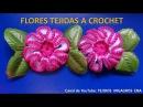 Flor tejida a crochet paso a paso para adorno de ponchos, gorros y bolsos