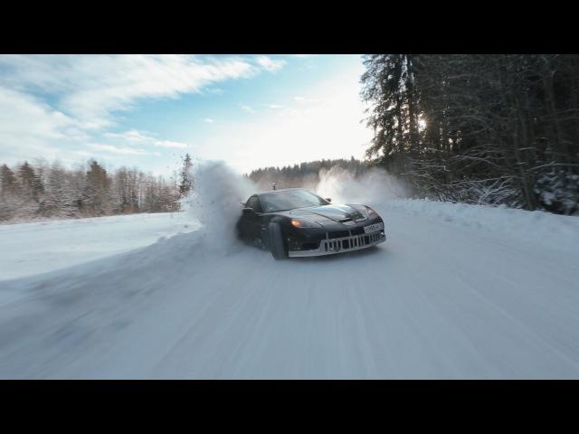 Crazy winter drift, Russia. Part 1
