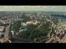 Нижний Новгород. Верхняя (нагорная) часть, аэросъемка | SkyMovie