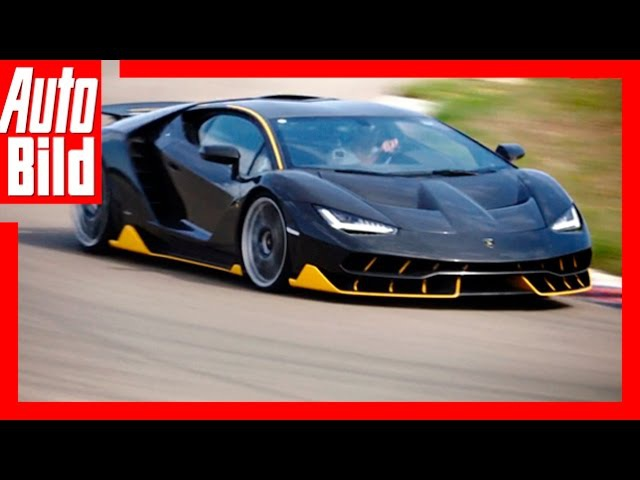 Hypersportler Lamborghini Centenario auf der Rennstrecke Test Review Racetrack Nardo