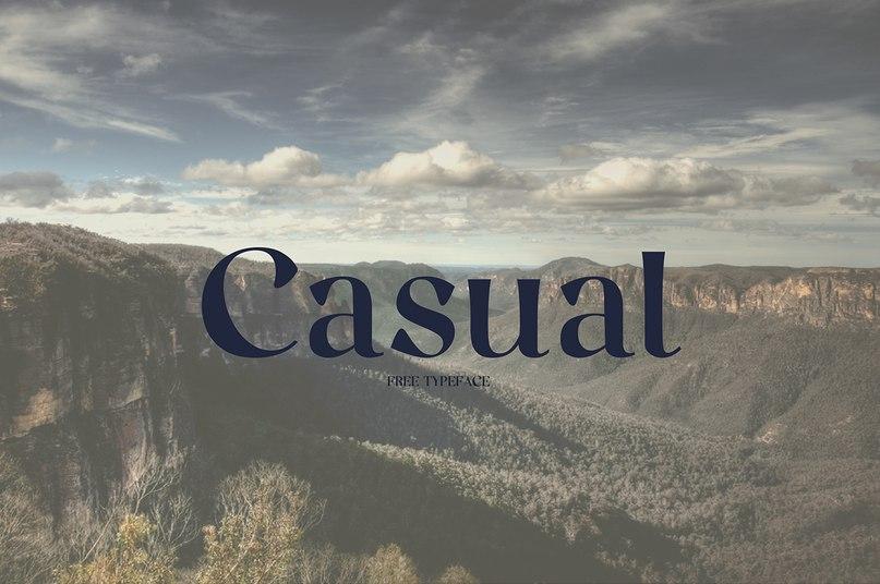 Casual шрифт скачать бесплатно