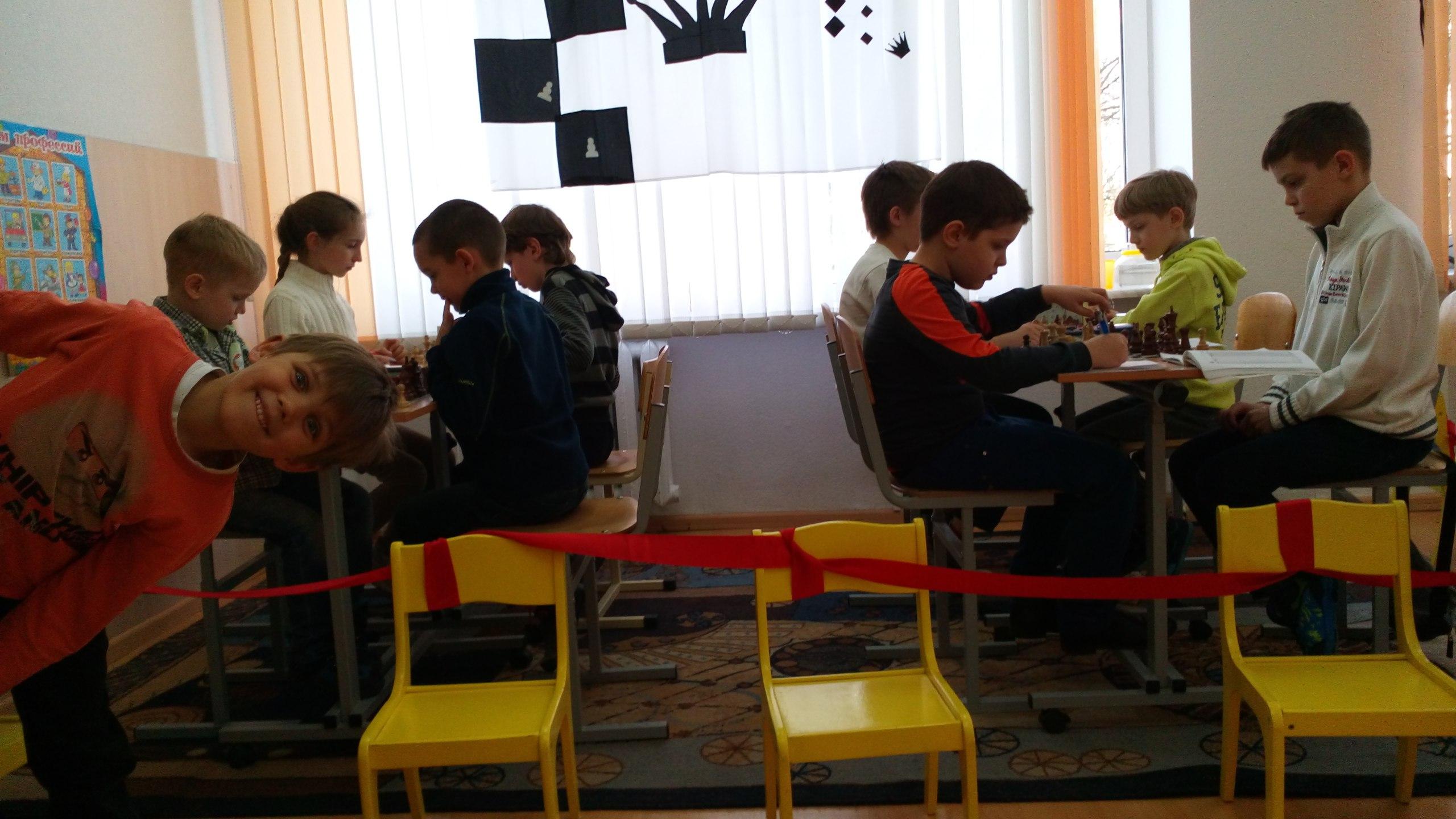 шахматисты за работой