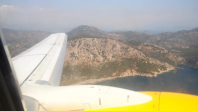 Красиво взлетаем )) @Aeroporto di Dalaman Havaalanı, Muğla