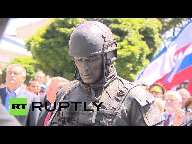 В Крыму открыт памятник «русским военным/вежливым людям»