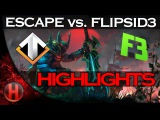 EPIC Debut - ESCAPE GAMING (NoDiggity) vs. FlipSid3 Tactics Dota 2
