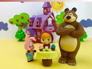Новый мультик Маша и медведь Поход в гости Видео для детей