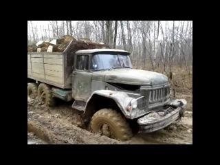 Легендарные автомобили, ЗиЛ-131 по бездорожью, настоящий монстр