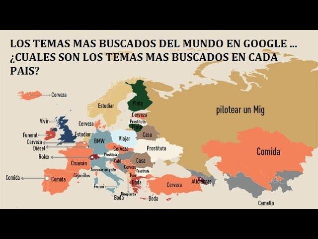 LOS TEMAS MAS BUSCADO EN GOOGLE