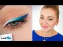 Kreska ombre w odcieniach błękitu i granatu – tutorial prezentuje Karolina