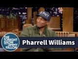 Pharrell Williams Strikes His Best 80s Sitcom Intro Pose