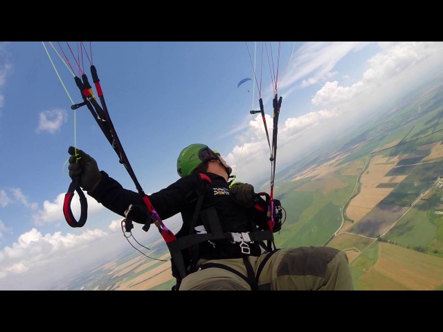 Двойной прыжок с параплана / Paragliding extreme tandem / D-bag SkyBASE