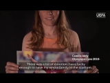 Our womens dev ambassador @cam10abily23 talks inspiring memories for Champions Gallery before #UWCL final @OL