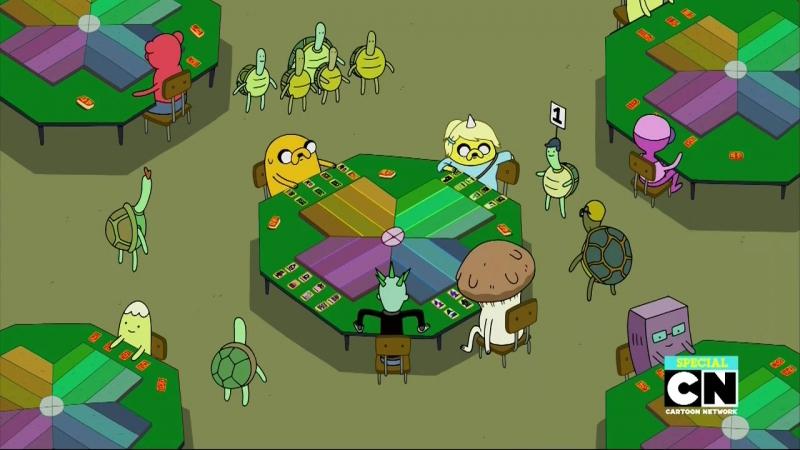 Adventure Time - Время Приключений: 7 сезон 37 серия Карточные войны с папой и дочкой / Daddy-Daughter Card Wars (озвучка)