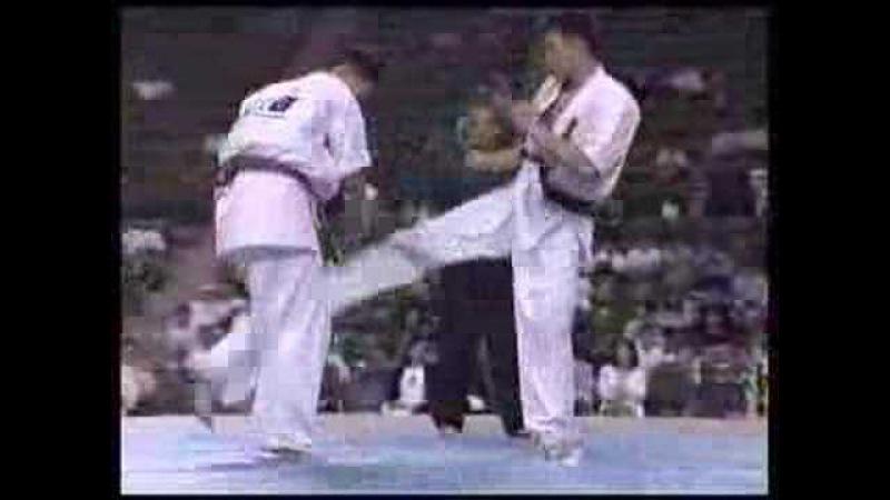 Kyokushin Karate  KO  low middle kick